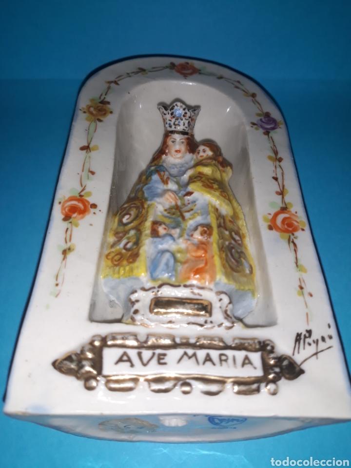 Antigüedades: Porcelana Peyro Virgen de los desamparados. - Foto 7 - 207500325
