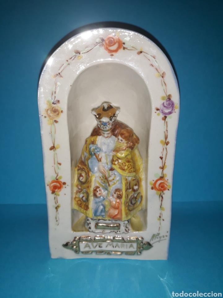 PORCELANA PEYRO VIRGEN DE LOS DESAMPARADOS. (Antigüedades - Porcelanas y Cerámicas - Manises)