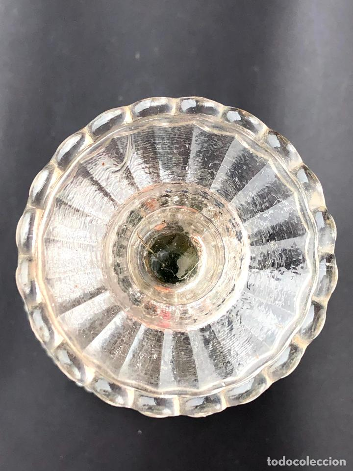 Antigüedades: CANDELERO de cristal. Finales siglo XIX. 23,2 cm - Foto 7 - 207539145