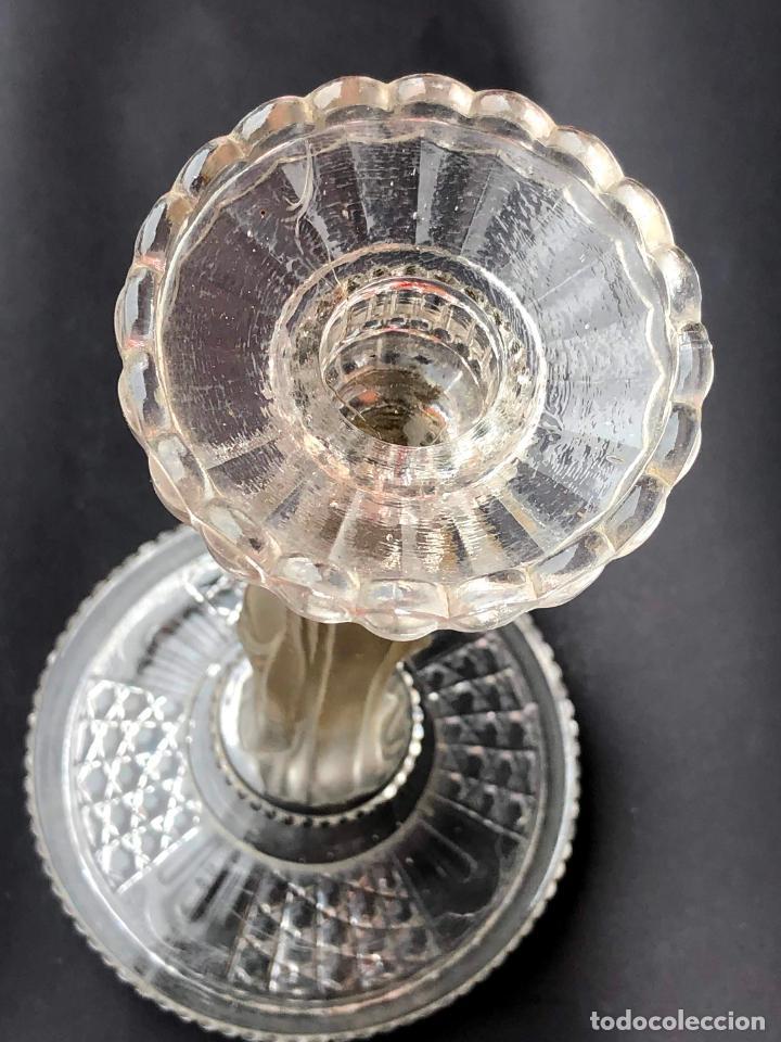 Antigüedades: CANDELERO de cristal. Finales siglo XIX. 23,2 cm - Foto 8 - 207539145