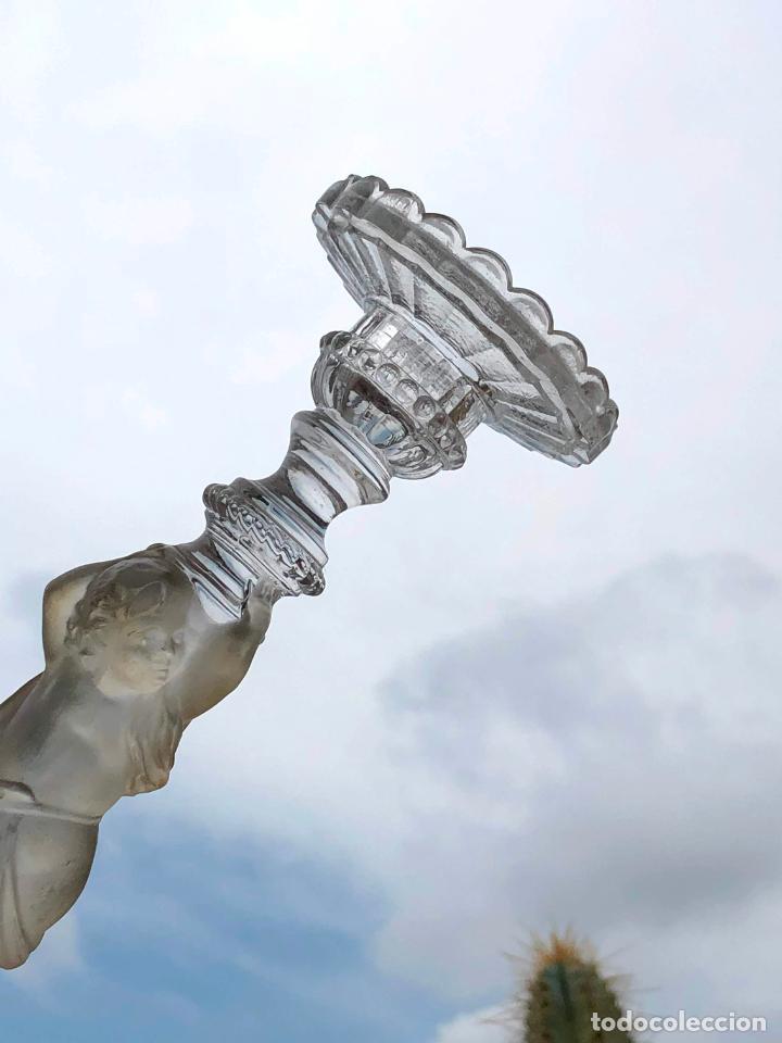 Antigüedades: CANDELERO de cristal. Finales siglo XIX. 23,2 cm - Foto 13 - 207539145