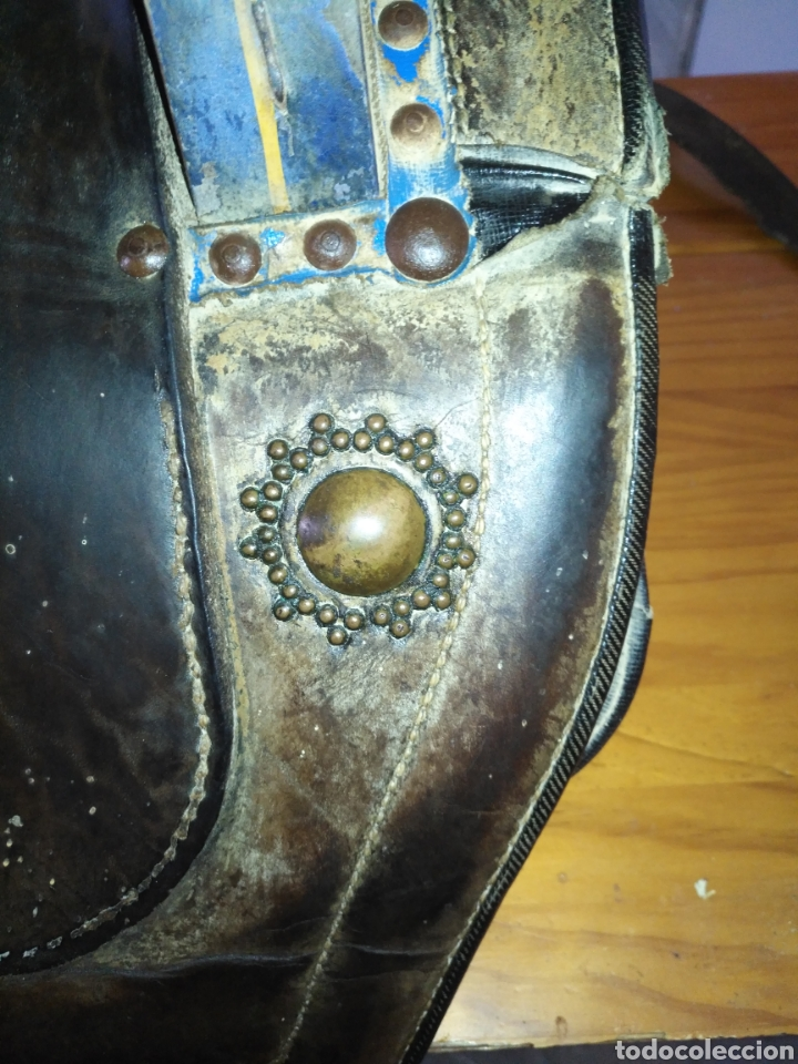 Antigüedades: Etnografía Antigua Albarda , Silla de carga para burro o mula. Apero caballería, muy buen estado - Foto 5 - 207542593