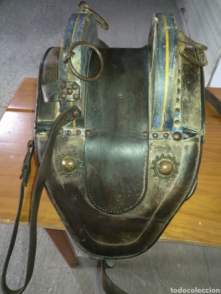Antigüedades: Etnografía Antigua Albarda , Silla de carga para burro o mula. Apero caballería, muy buen estado - Foto 2 - 207542593