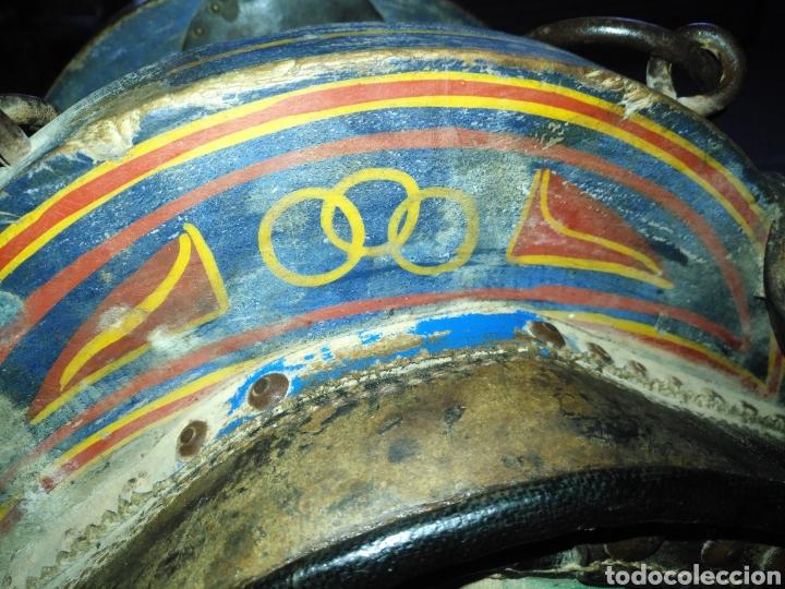 Antigüedades: Etnografía Antigua Albarda , Silla de carga para burro o mula. Apero caballería, muy buen estado - Foto 3 - 207542593