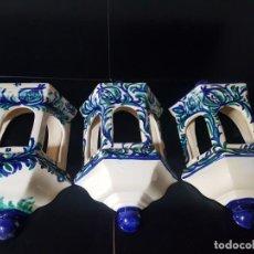 Antigüedades: FAROLILLOS DE CERAMICA DE GRANADA. Lote 207563155