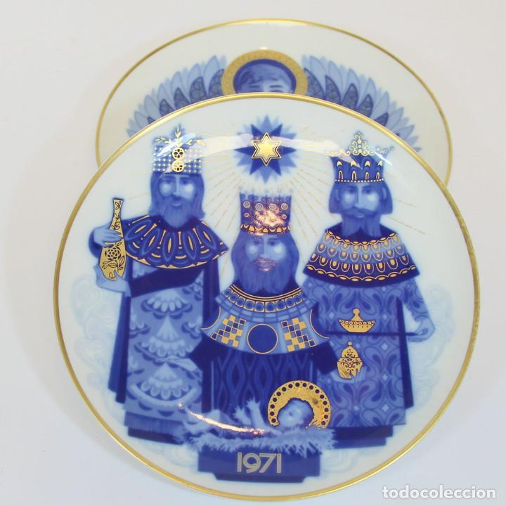 Antigüedades: platos de Santa Clara, edición especial de Navidad. Firmados en el dorso. - Foto 5 - 207563525