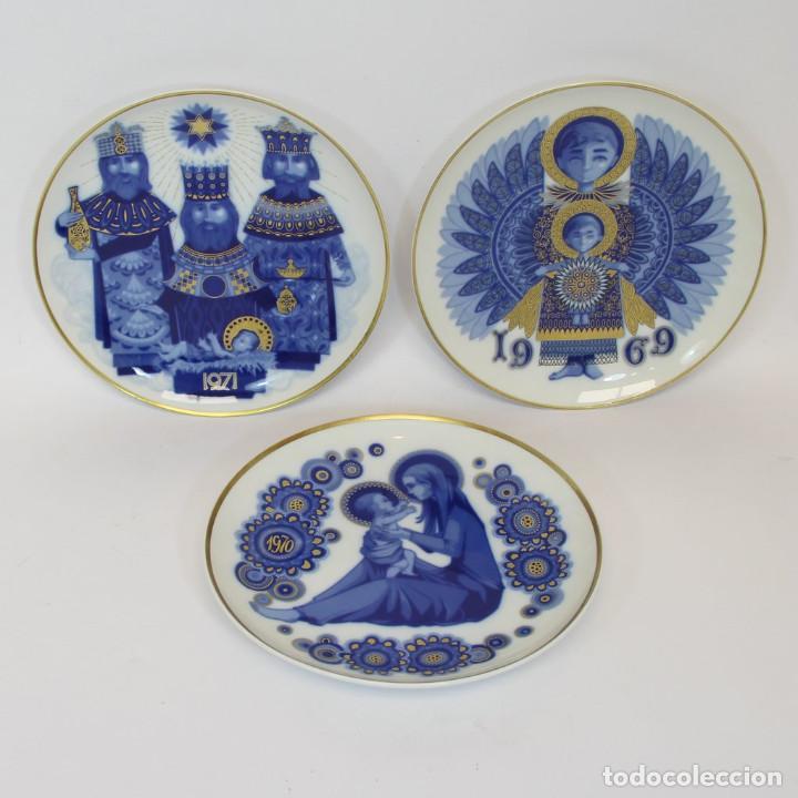 Antigüedades: platos de Santa Clara, edición especial de Navidad. Firmados en el dorso. - Foto 7 - 207563525