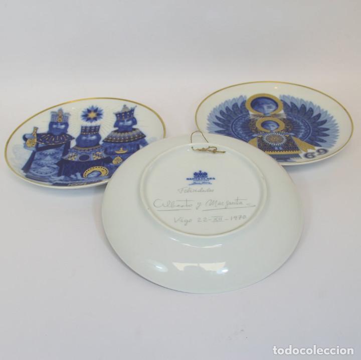 Antigüedades: platos de Santa Clara, edición especial de Navidad. Firmados en el dorso. - Foto 8 - 207563525