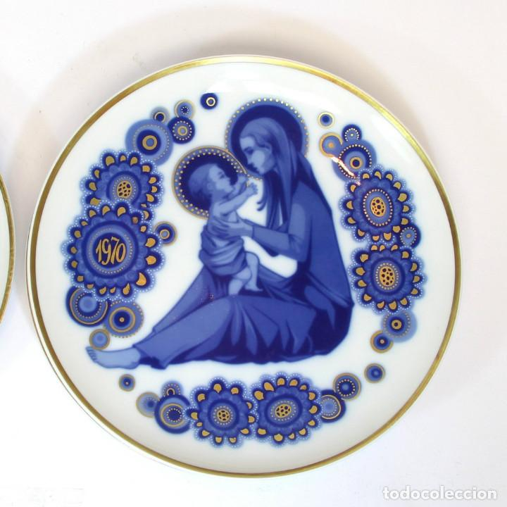 Antigüedades: platos de Santa Clara, edición especial de Navidad. Firmados en el dorso. - Foto 9 - 207563525