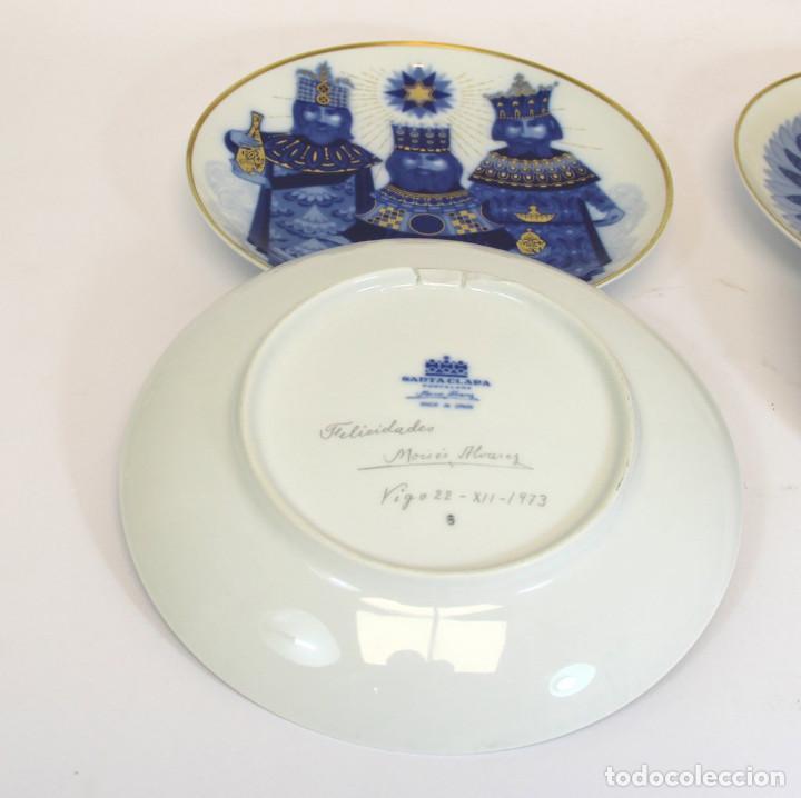 Antigüedades: platos de Santa Clara, edición especial de Navidad. Firmados en el dorso. - Foto 11 - 207563525