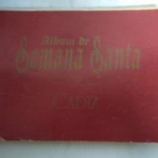 Antigüedades: ÁLBUM DE SEMANA SANTA DE CÁDIZ.. Lote 207570331