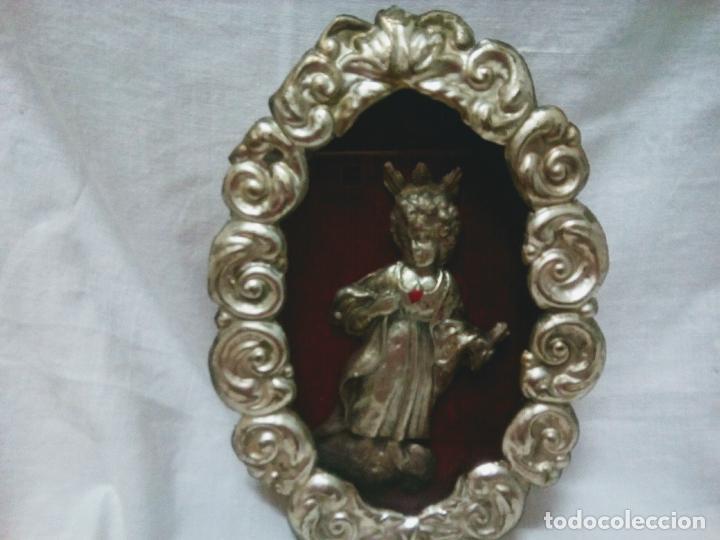 Antigüedades: Precioso relicario capilla Niño Jesúsl . Principios siglo XX. 10 cm por 15 cm. - Foto 2 - 207572181