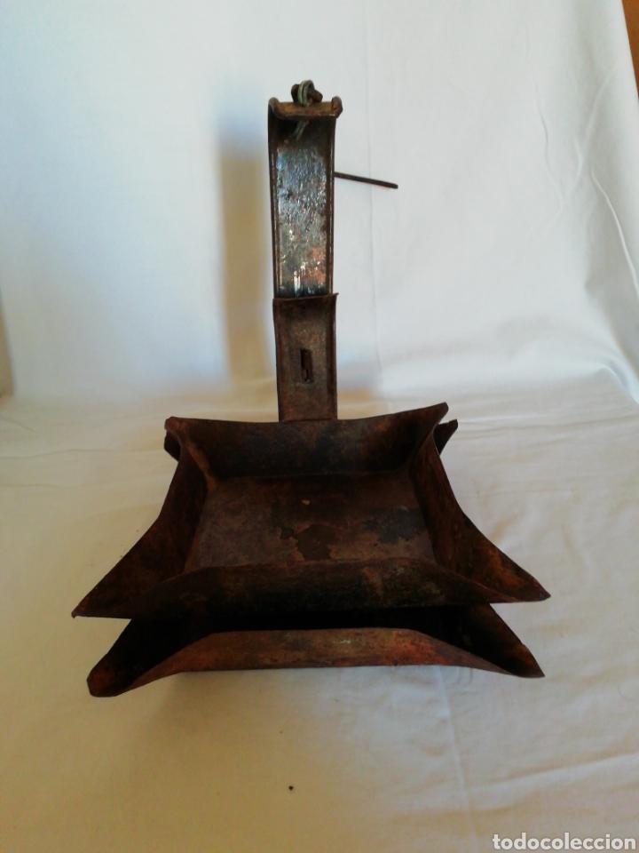 CANDIL DE HIERRO (Antigüedades - Técnicas - Rústicas - Utensilios del Hogar)