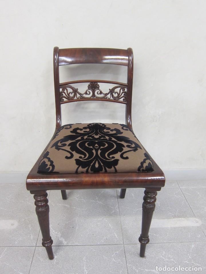 SILLA CAOBA S XIX (Antigüedades - Muebles Antiguos - Sillas Antiguas)