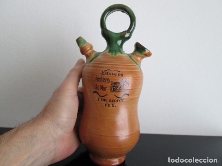 BOTIJO RECUERDO SANTILLANA DEL MAR (Antigüedades - Porcelanas y Cerámicas - Otras)