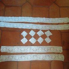 Antigüedades: APLICACIONES BORDADO DE REJILLA. Lote 207693036