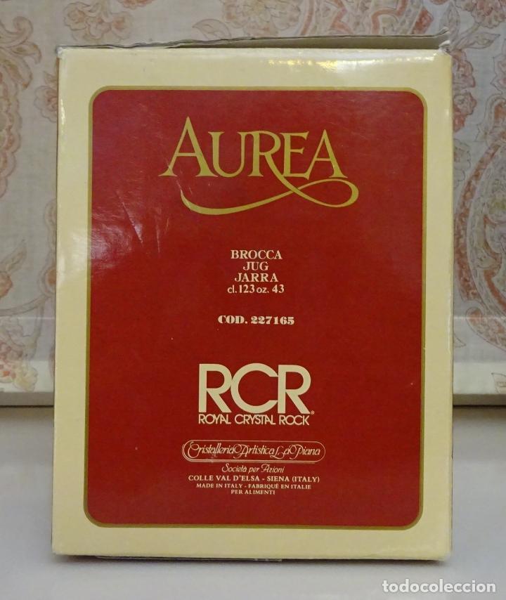Antigüedades: JARRA DE CRISTAL AL PLOMO MÁS DE 24 % PBO. ROYAL CRYSTAL ROCK. ITALIA - Foto 4 - 207695458
