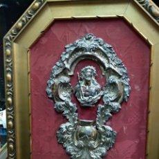 Antigüedades: PILA BENDITERA ANTIGUA DE PLATA SIGLO XVIII-XIX. Lote 207699402
