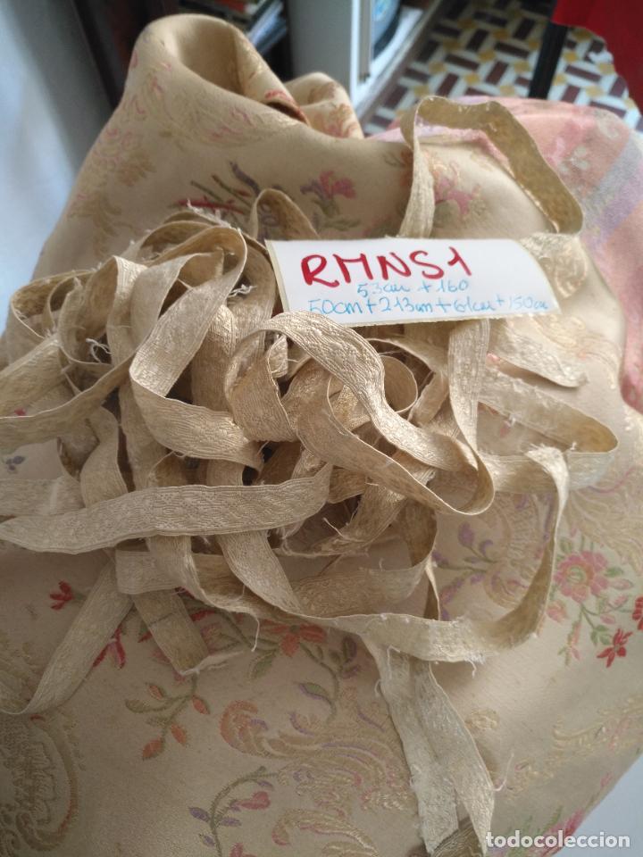 Antigüedades: 213+50+53+150+160+61 cm antiguo galon seda ideal virgen semana santa casulla dalmatica .... - Foto 7 - 207719173