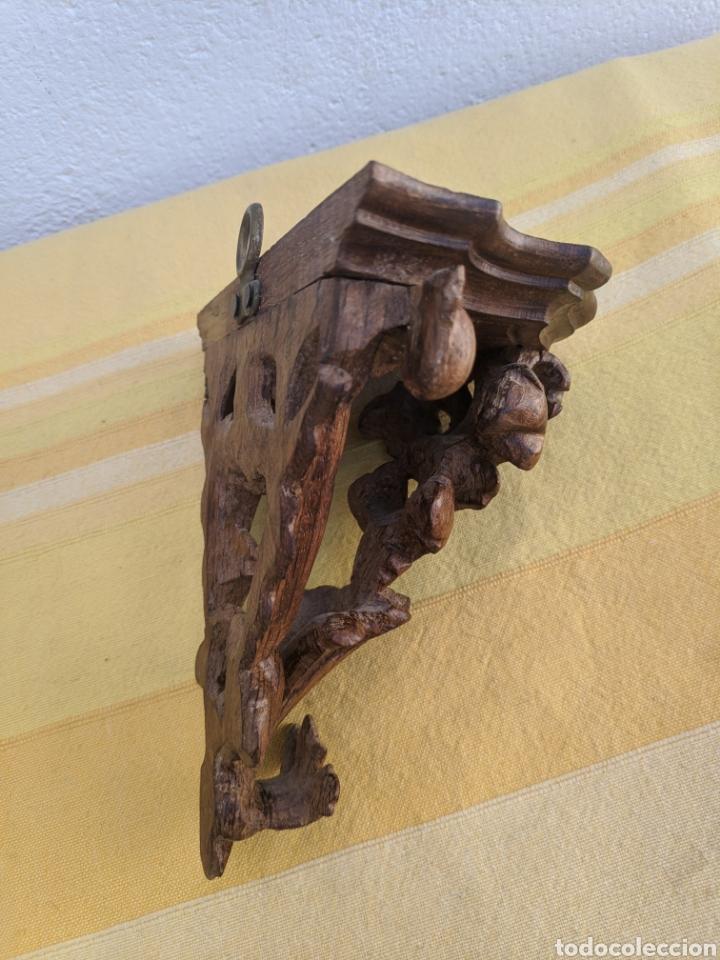 Antigüedades: Ménsula de caoba tallada a mano - Foto 2 - 207730880