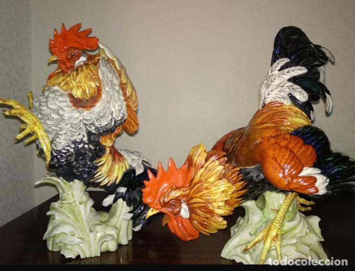Antigüedades: Pareja gallos de Algora - Foto 6 - 207774343