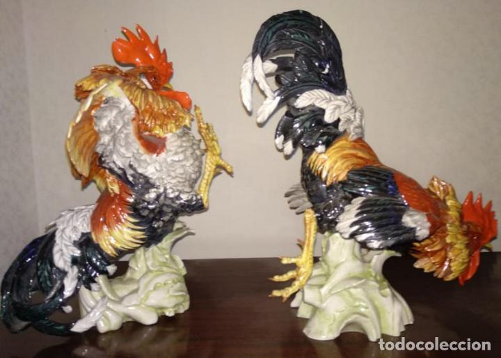 Antigüedades: Pareja gallos de Algora - Foto 7 - 207774343