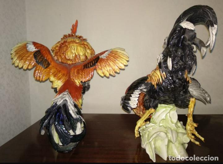 Antigüedades: Pareja gallos de Algora - Foto 8 - 207774343