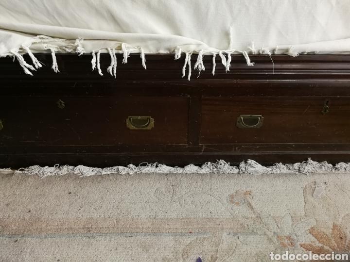 Antigüedades: cama autentica de barco caoba - Foto 3 - 79778398