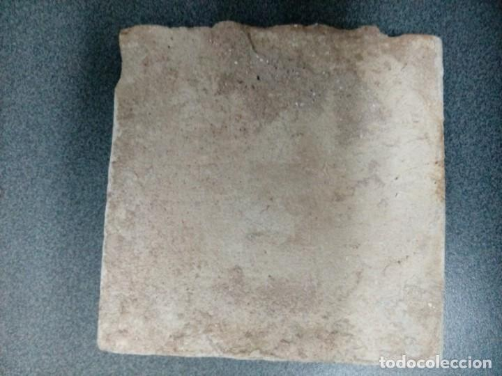 Antigüedades: Dos azulejos siglo XVIII.Medida 20x20 - Foto 2 - 207777920
