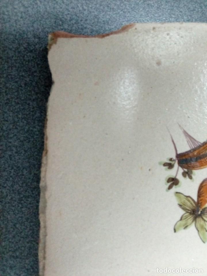 Antigüedades: Dos azulejos siglo XVIII.Medida 20x20 - Foto 4 - 207777920