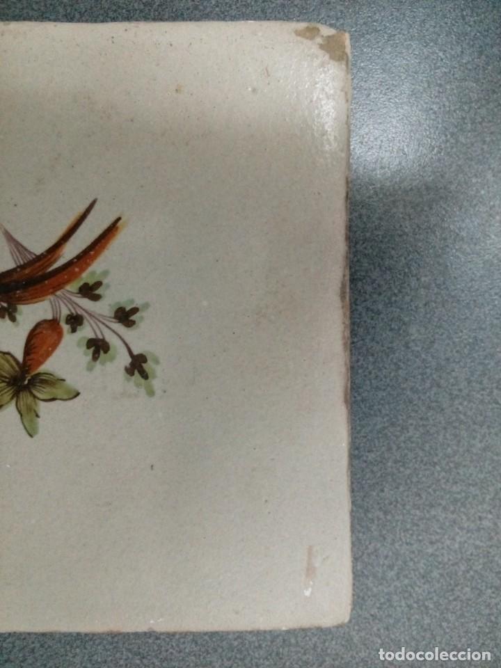 Antigüedades: Dos azulejos siglo XVIII.Medida 20x20 - Foto 7 - 207777920