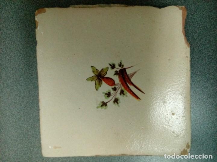 Antigüedades: Dos azulejos siglo XVIII.Medida 20x20 - Foto 8 - 207777920