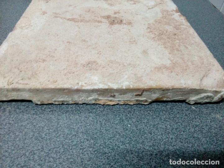 Antigüedades: Dos azulejos siglo XVIII.Medida 20x20 - Foto 9 - 207777920
