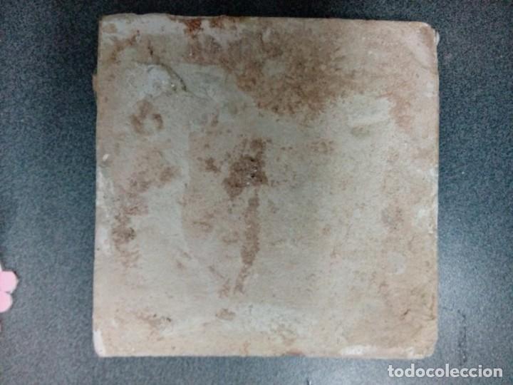 Antigüedades: Dos azulejos siglo XVIII.Medida 20x20 - Foto 10 - 207777920
