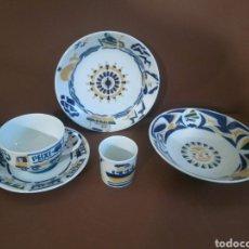 Antigüedades: VAJILLA INFANTIL CASTRO SARGADELOS (5 PIEZAS). Lote 207805893