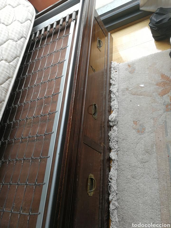Antigüedades: cama autentica de barco caoba - Foto 12 - 79778398