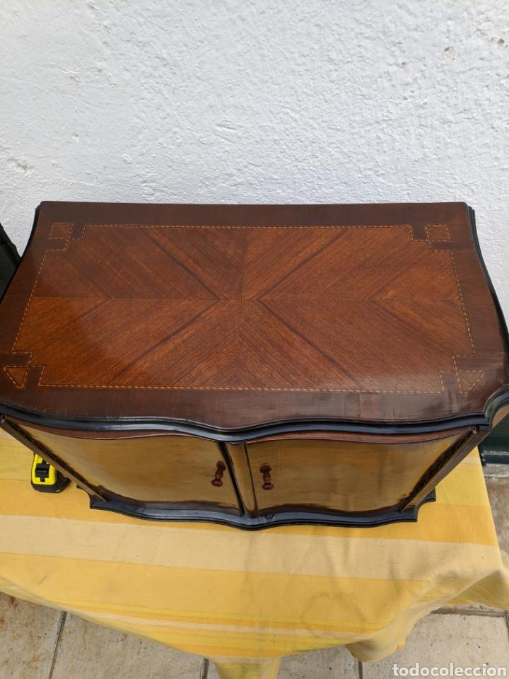 Antigüedades: Mueble de radio tranformado en bargueño, caoba - Foto 4 - 207838546