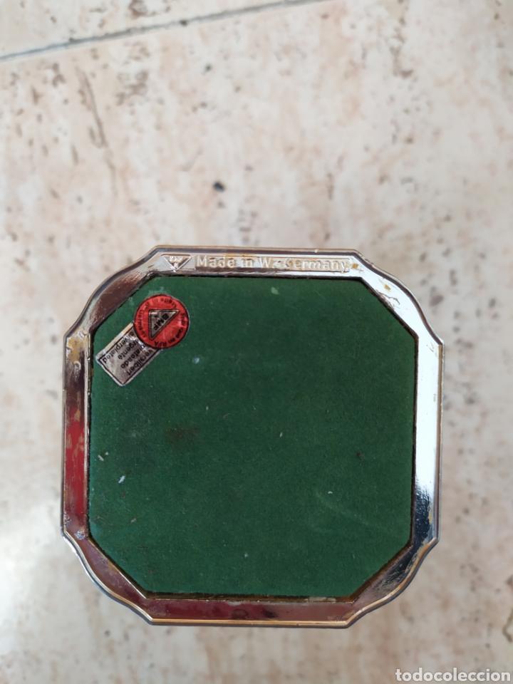 Antigüedades: Porta velas candelabro palmatoria RFA República Federal Alemana BMF Plateado Silverplated West Germa - Foto 3 - 207849205