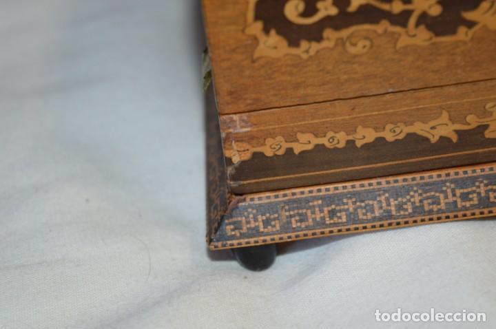Antigüedades: Vintage, antigua - CAJA / CIGARRERA musical / Madera y marquetería - ¡Preciosa, mira fotos/detalles! - Foto 6 - 207855917