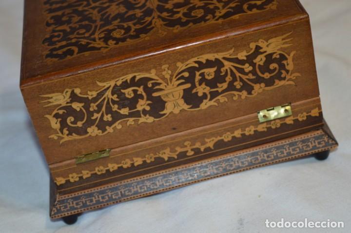 Antigüedades: Vintage, antigua - CAJA / CIGARRERA musical / Madera y marquetería - ¡Preciosa, mira fotos/detalles! - Foto 7 - 207855917