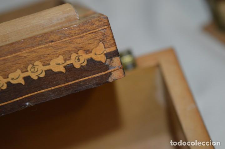 Antigüedades: Vintage, antigua - CAJA / CIGARRERA musical / Madera y marquetería - ¡Preciosa, mira fotos/detalles! - Foto 18 - 207855917