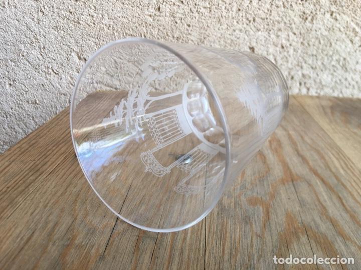 Antigüedades: Vaso grande de Cristal de La Granja - Martina y puertas y árboles grabados, inferior caras pulidas - Foto 6 - 207866015
