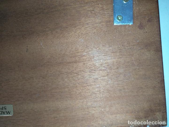 Antigüedades: PERCHERO PARA DORMITORIO DE MUEBLE BARCO - NORAY , 2 percha metal y metopa madera 28x15x2cm - Foto 9 - 207867665