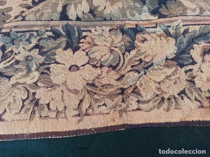 Antigüedades: Preciosa cortina con escena de caza (deteriorada) - Foto 6 - 207867820