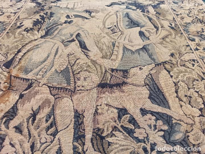 Antigüedades: Preciosa cortina con escena de caza (deteriorada) - Foto 9 - 207867820