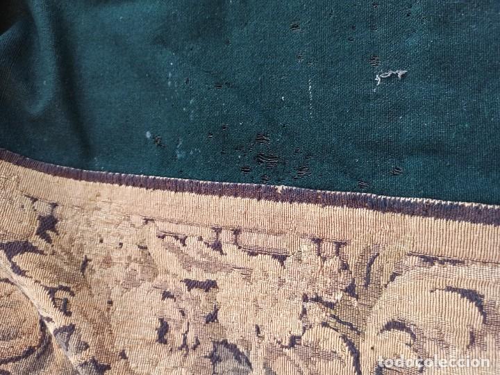 Antigüedades: Preciosa cortina con escena de caza (deteriorada) - Foto 10 - 207867820