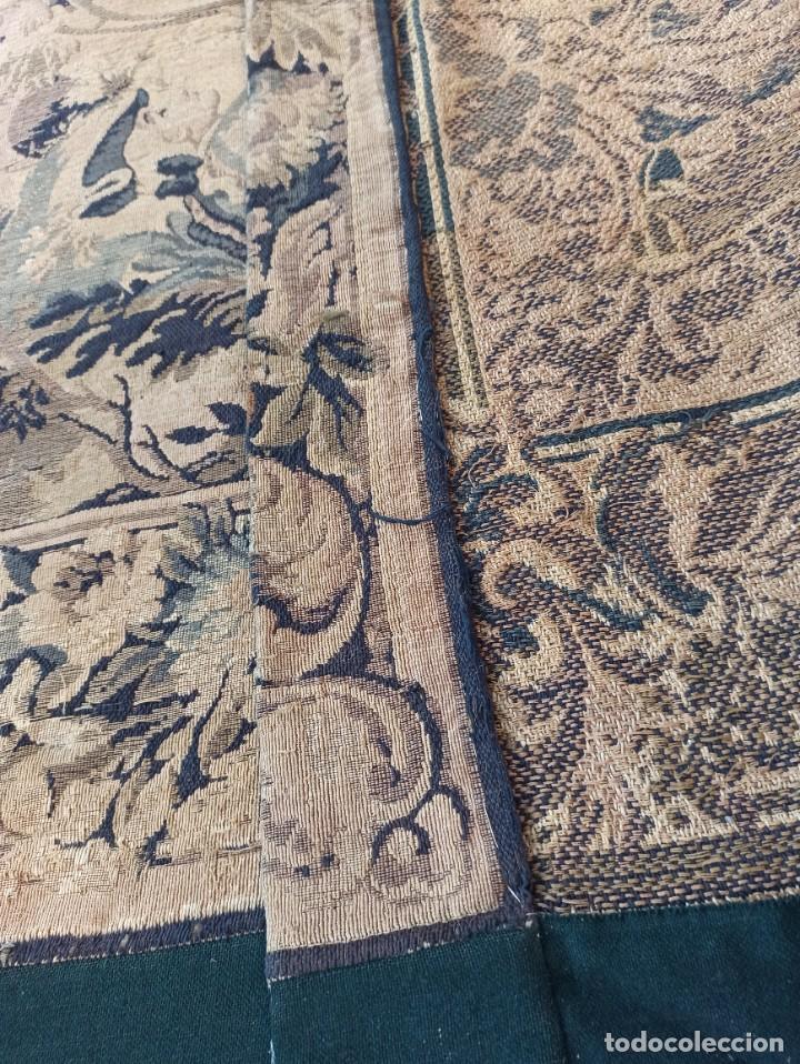 Antigüedades: Preciosa cortina con escena de caza (deteriorada) - Foto 11 - 207867820