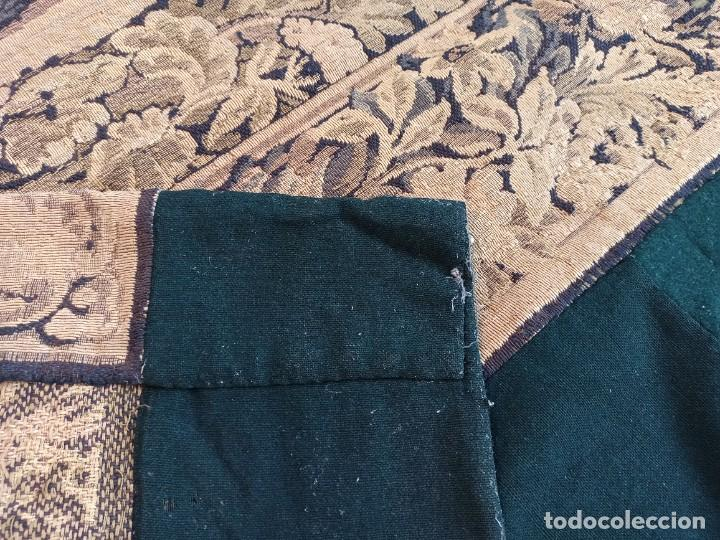 Antigüedades: Preciosa cortina con escena de caza (deteriorada) - Foto 13 - 207867820