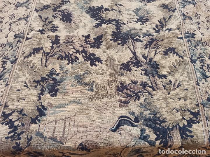 Antigüedades: Preciosa cortina con escena de caza (deteriorada) - Foto 14 - 207867820