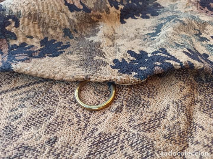 Antigüedades: Preciosa cortina con escena de caza (deteriorada) - Foto 15 - 207867820